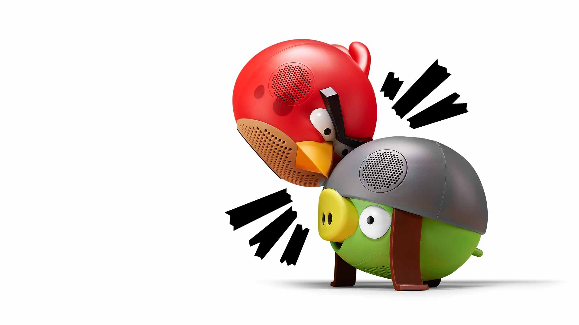 Angry Birds Speakers with head banging bass.